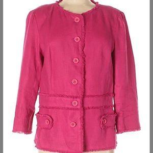 Neiman Marcus linen fushia jacket
